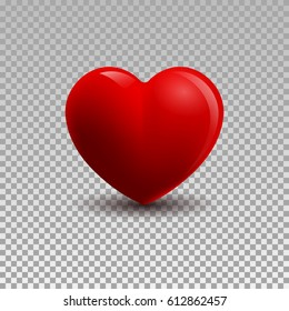 3d illustration of a heart isolated on a plaid background.