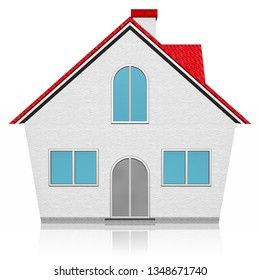 3D illustration. Home, home icon isolated on white background.