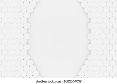 3d illustration of a Honeycomb structure with a Hole