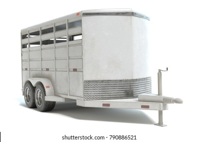 3d illustration of a horse trailer