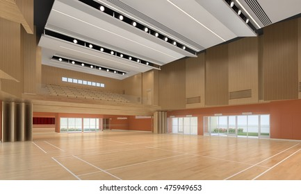 3d illustration of indoor gymnasium