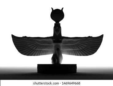 3d illustration of ISIS the Egyptian Goddess of life and Magic