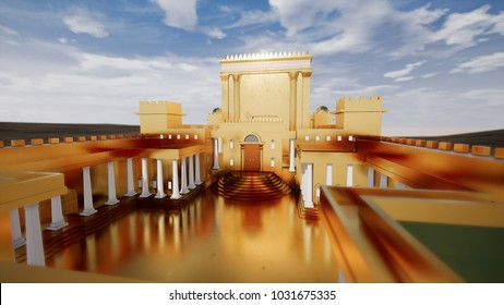 3D illustration - Jerusalem of Gold, Solomon's Temple 1