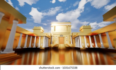 3D illustration - Jerusalem of Gold, Solomon's Temple 2