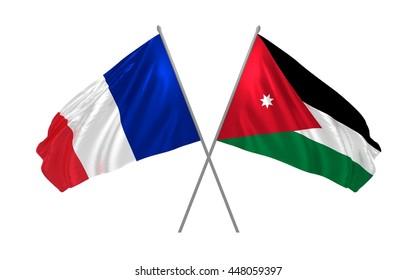 grand choix de b44f9 3b76d 3 D Illustration Jordan Chile Crossed State Stock ...