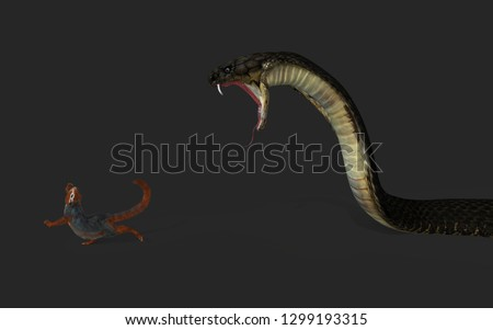 3d illustration king cobra snake 450w 1299193315
