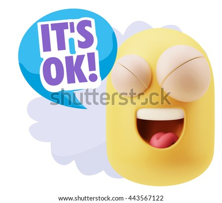 3 D Illustration Laughing Character Emoji Expression Stock