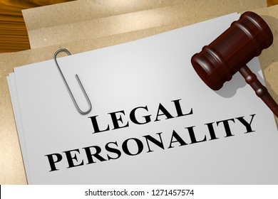 3D illustration of LEGAL PERSONALITY title on legal document