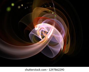 3D Illustration - Magic Mushroom, Purple Transparent Holographic Mushroom organic shape - Fantasy dream, science fiction, hallucination, hallucinogenic drugs, glowing transparent abstract artwork.