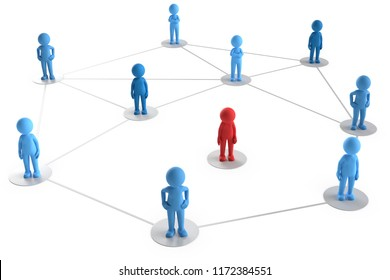 3D illustration of male network excluded