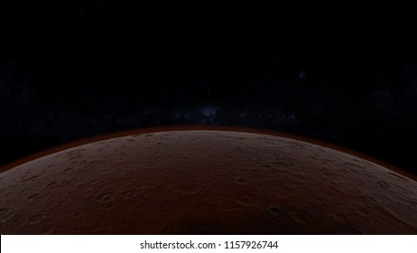 3d Illustration of Mars planet with space background