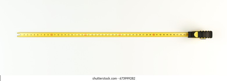 3d illustration of a measuring tape isolated on white background