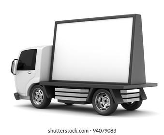3D Illustration of a Mobile Billboard