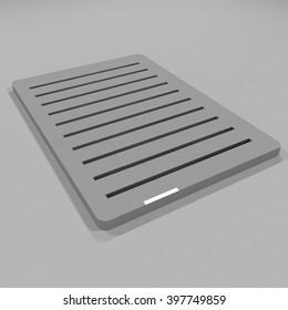 3D illustration Mock up carpet Display for blister