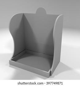 3D illustration Mock up counter Display for pack