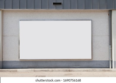 3d illustration, Mockup signage logo beautiful pictures you can use advertising, outdoor advertising space