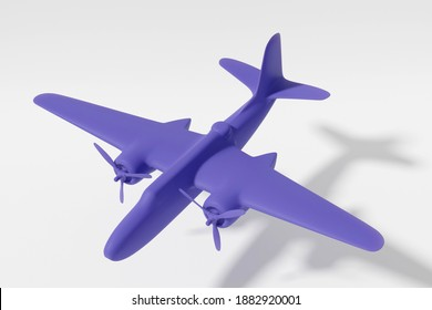 3d illustration. Model of the American bomber from the Second World War