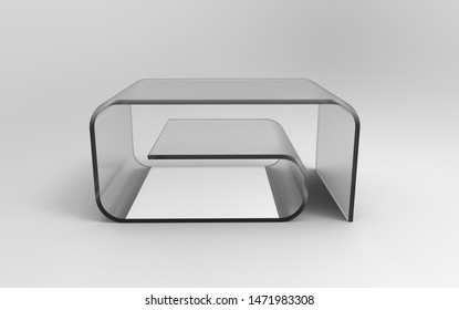 3d Illustration of  modern coffee table on a white background