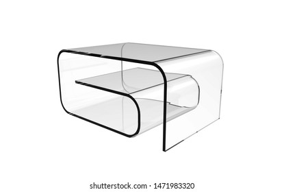 3d Illustration of  modern coffee table isolated on a white background
