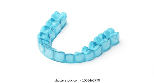 3d illustration of mouth guard.