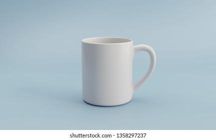3D illustration Mug