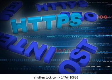3d illustration Network community concept . http sign