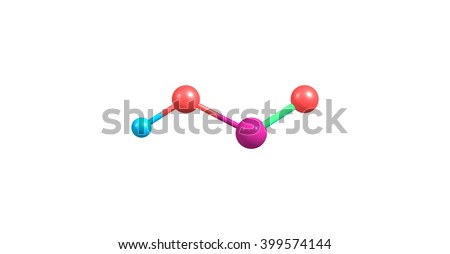 3 d illustration nitrous acid hno 2 weak stock illustration