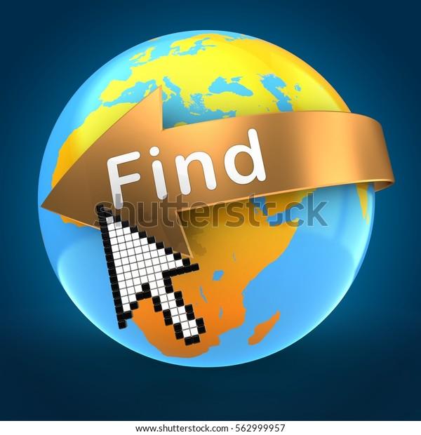3d Illustration Orange Earth Globe Over Stock Illustration