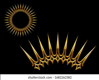 3d illustration ornament. Curved segment with fourty-five degree angle, combinable with a straight or ninety degree version, which can be found with the search term shine