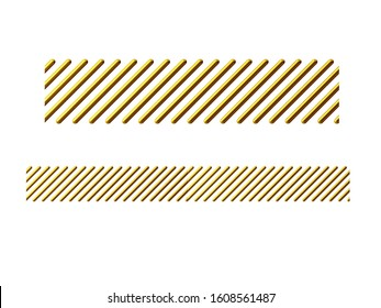 3d illustration ornament. Straight segment. Combinable with a fourtyfive or ninety degree curve version. Search term hatching