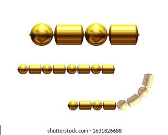 3d illustration ornament. Straight segment. Combinable with a fourtyfive or ninety degree curve version. Search term Chain