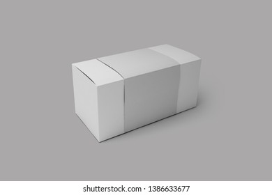 3d illustration packing box for usb and electronics various mockup isolate