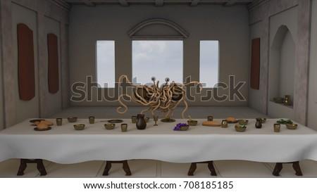 Royalty Free Stock Illustration Of 3 D Illustration Pastafarian Last