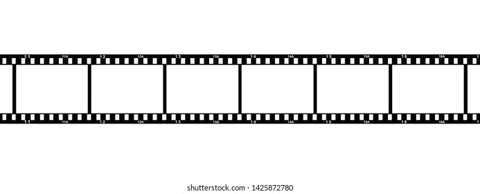 3d Illustration of a photo film with white frame numbers