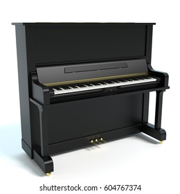 3d illustration of a piano
