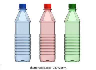3d illustration of plastic bottle isolated on white
