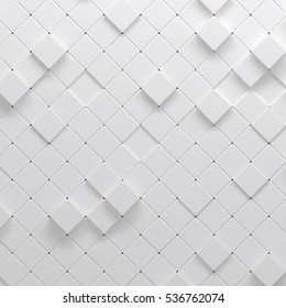 3d illustration of polygonal parametric pattern