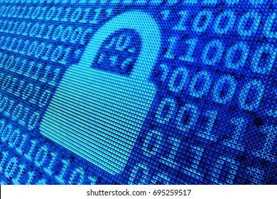3D illustration - Privacy - Binary