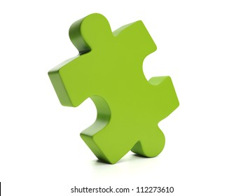 3d Illustration: Puzzle, part of the whole