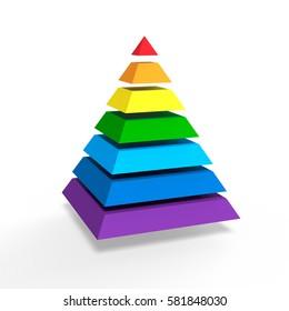 3D Illustration, pyramid