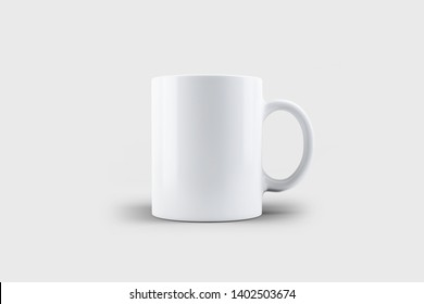 3d illustration Realistic mug mock up  template Easy to change colors