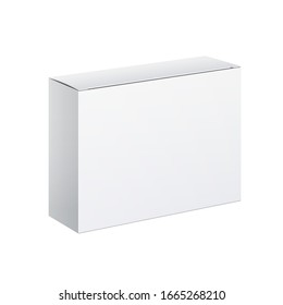 3D illustration Realistic White Package carton Box. For other products. Template For Mockup Your Design.