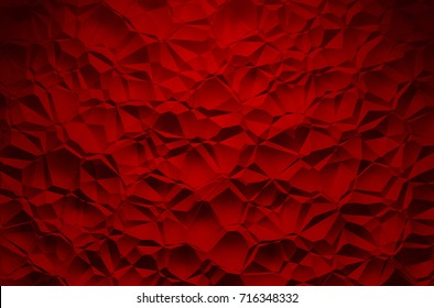 3D Illustration - red brilliant triangle pattern Background 2