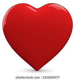 3D illustration red heart