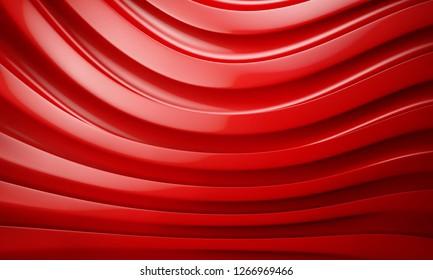 3D Illustration - The red wave