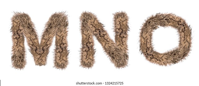 3D Illustration Render Hairy Font High Quality Alphabet Letters Isolated Elements