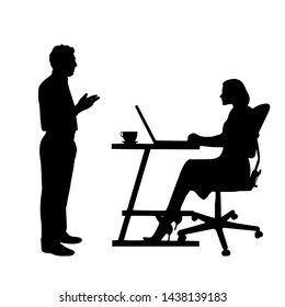 3D illustration 3D rendering Business Discussion Silhouette