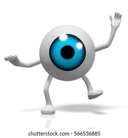3D illustration/ 3D rendering - cartoon eye