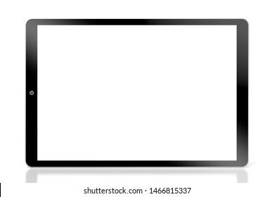 3D-Illustration/ 3D-Darstellung - moderne Tablette auf weißem Hintergrund.