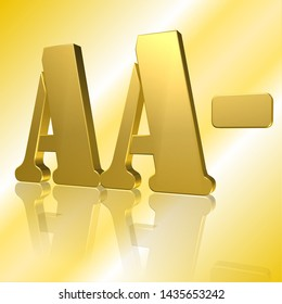 3D Illustration, 3D Rendering: rating or rating code for assessing the creditworthiness of a debtor; Code AA-